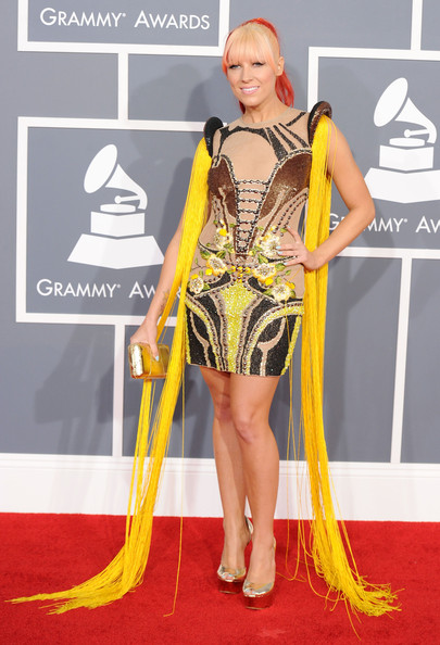 Bonnie McKee at the 2012 Grammy Awards on Exshoesme.com