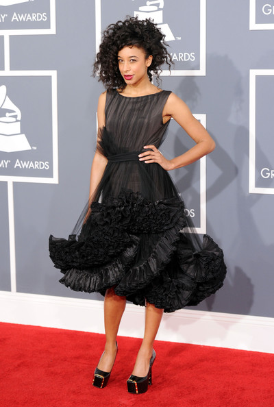Corinne Bailey Rae at the 2012 Grammy Awards on Exshoesme.com