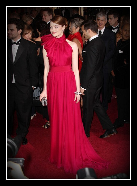 Emma Stone in Valli Couture at the 2012 Oscarson Exshoesme.com