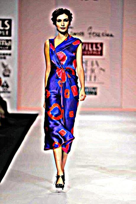 James Ferreira AW12 Big Bandani Print Dress on Exshoesme.com-001