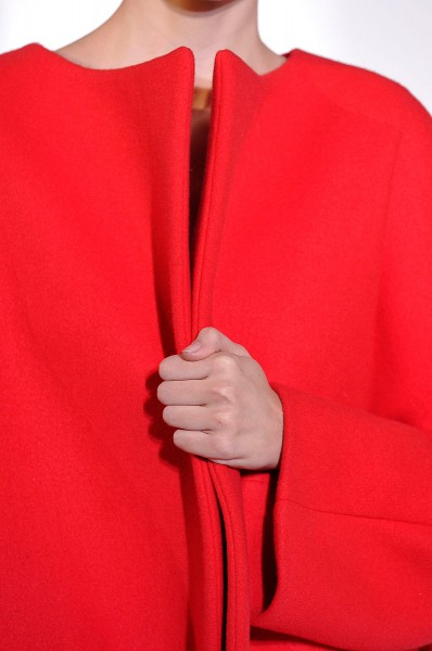 Jil Sander FW12 Poppy Red Coat on Exshoesme.com