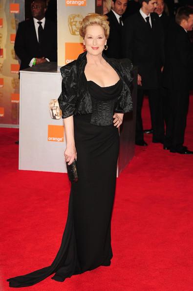 Meryl Streep in Vivienne Westwood at the 2012 BAFTAs on Exshoesme.com