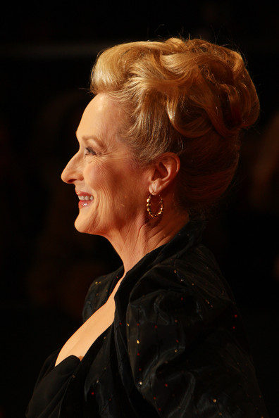 Meryl Streep's golden locks at the 2012 BAFTAs on Exshoesme.com