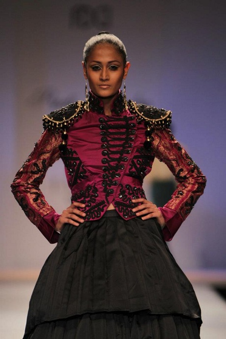 Preeti Chandra AW12 Plum Beaded Bolero on Exshoesme.com