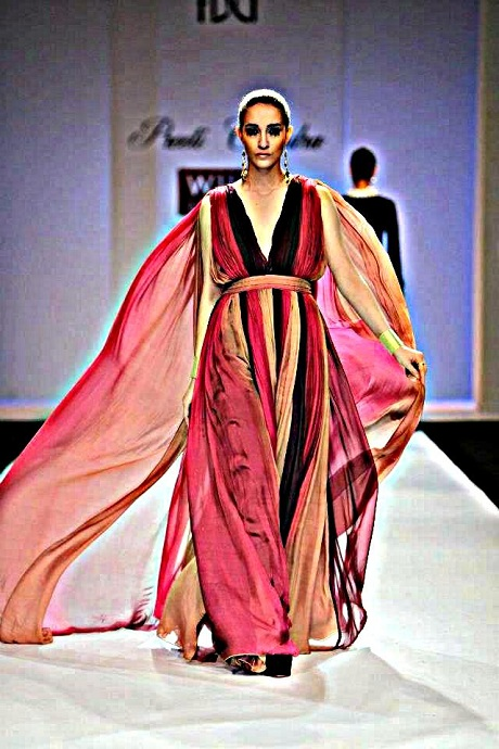 Preeti Chandra AW12 Tiered Chiffon Gown on Exshoesme.com-001