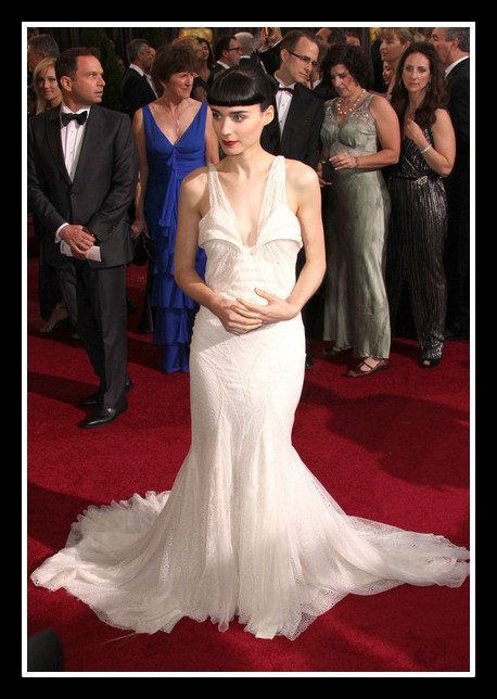 Rooney Mara in Givenchy Couture at the 2012 Oscars on Exshoesme.com