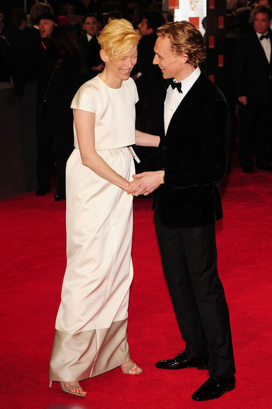 Tilda Swinton in Celine at the 2012 BAFTAs on Exshoesme.com