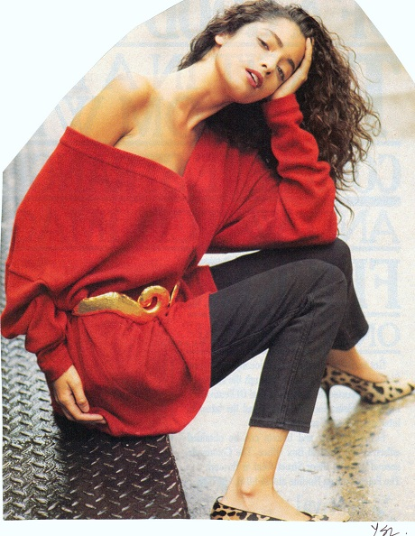 YSL 1990s Red Sweater on Exshoesme.com