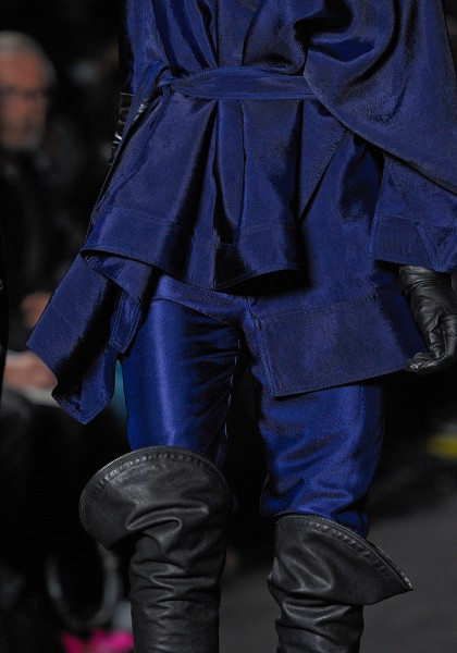 Ann Demeulemeester FW12 Electric Blue Suit and Pirate Boots on Exshoesme.com