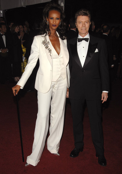 Iman and David Bowie at the Met Gala in 2007 on Exshoesme.com