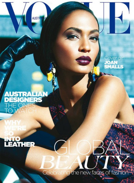 Joan Smalls on the cover of Vogue Australia May 2012 photographed by Kay Z Feng on Exshoesme