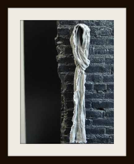 Philippe Dubuc Grey Linen SS12 Scarf on Exshoesme.com