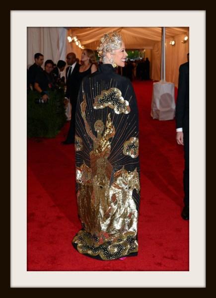 10. 7. Linda Fargo in Naeem Khan Cape - Back View at the Metropolitan Museum of Art Gala 2012 on Exshoesme.com