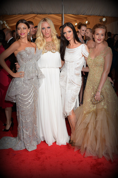 10. Sofia Vergara, Keren Craig, Georgina Chapman and Leighton Meester at the Metropolitan Museum of Art Gala 2012 on Exshoesme.com