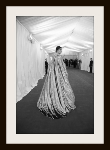 11.  Bianca Brandolini D'Adda in Gold Dolce and Gabbana Cape at the Metropolitan Museum of Art Gala 2012 on Exshoesme.com