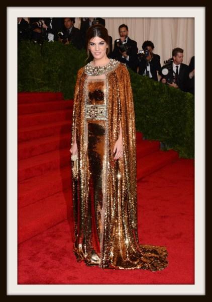 4. Bianca Brandolini D'Adda in Dolce and Gabbana at the Metropolitan Museum of Art Gala 2012 on Exshoesme.com