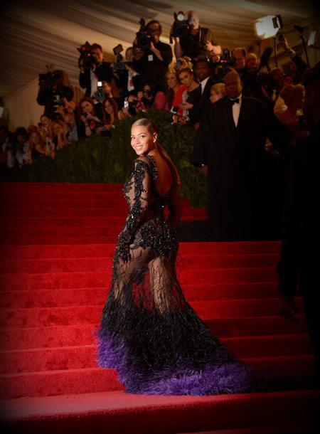 8. Beyonce in Givenchy Haute Couture at the Metropolitan Museum of Art Gala 2012 on Exshoesme.com