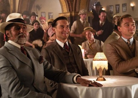 Amitabh Bachchan with Tobey Maguire and Leonardo DiCaprio in The Great Gatsby on Exshoesme.com
