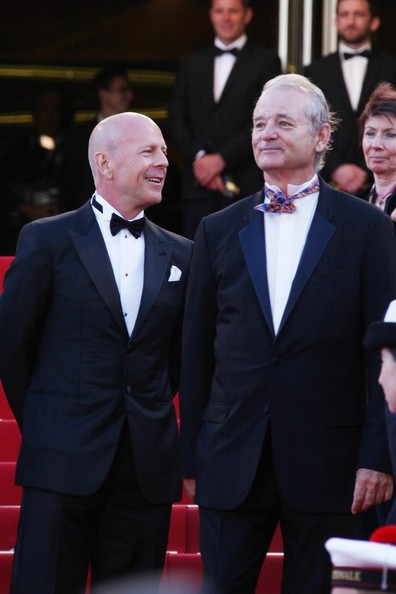 Bill Murray and Bruce Willis at Moonrise Kingdom Opening Ceremony of Cannes Film Festival May 16 2012 on Exshoesme.com.