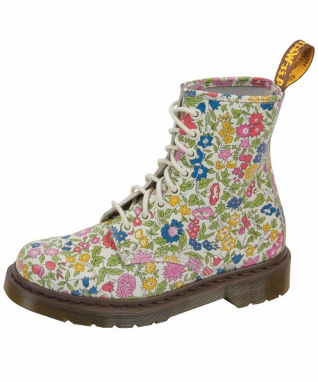 Dr. Martens Flower Liberty Print 8 Hole Boots on Exshoesme.com