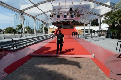 Laying the Red Carpet at the 65th Annual Cannes Festival May 16 2012 on Exshoesme.com.
