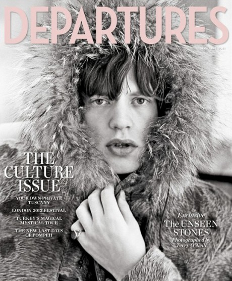 Mick Jagger photographed by Terry O'Neill Departures Magazine May 2012 on Exshoesme.com