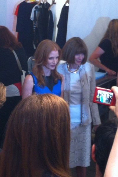 6. Anna Wintour at Jeffrey with Jessica Chastain during Fashion's Night Out 2012 in New York Photo via @FootwearNews