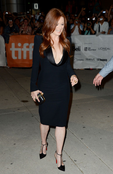 Julianne Moore in Alexander McQueen dress and Louboutin T-Strap Pumps at the What Maisie Knew Premiere at the Toronto International Film Festival 2012 on Exshoesme.com (Mark Davis)