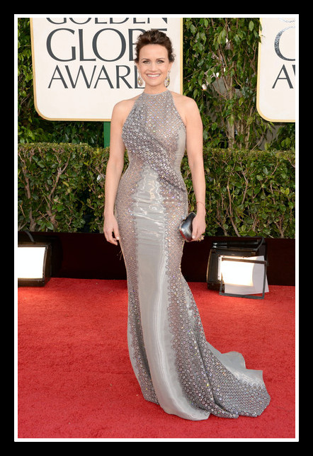 Carla Gugino at the 2013 Golden Globe Awards on Exshoesme.com. Photo Axelle - Bauer Griffin