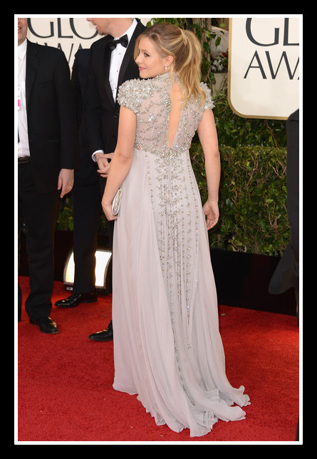 Kristen Bell at the 2013 Golden Globe Awards on Exshoesme.com. Photo Axelle - Bauer Griffin