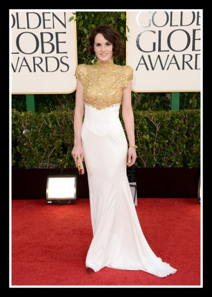 Michelle Dockery in Alexandre Vauthier at the 2013 Golden Globe Awards on Exshoesme.com