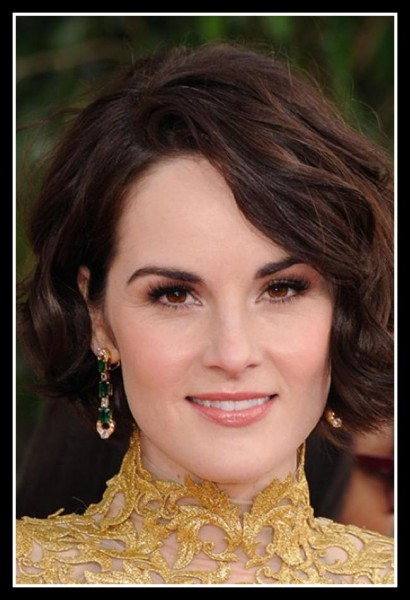 Michelle Dockery's finger wave bob at the 2013 Golden Globe Awards on Exshoesme.com Photo Jason Merritt Getty Images North America