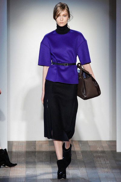 Victoria Beckham FW13 Blue Top and Black Skirt on Exshoesme.comv