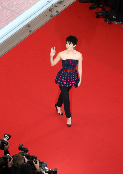 Zhang Ziyi in Dior Couture at the Cannes 2013 Opening Ceremony on Exshoesme.com. Photo Andreas Rentz