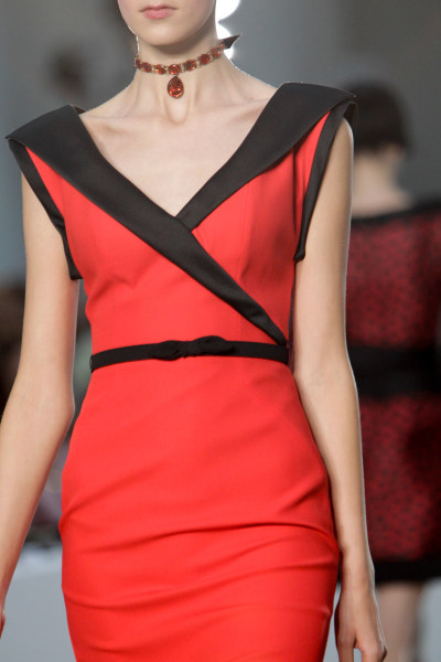 L'Wren Scott SS14 black and red fitted and flared dress on Exshoesme.com   (1)