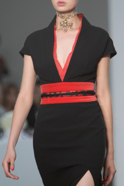 L'Wren Scott SS14black and red slim dress on Exshoesme.com  (1)