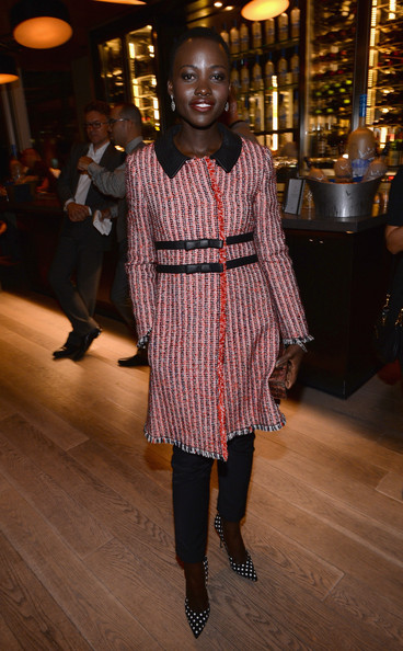 Lupita Nyong'o at The Invisible Woman dinner at the 2013 Toronto International Film Festival #TIFF13 on Exshoesme.com. Michael Buckner photo