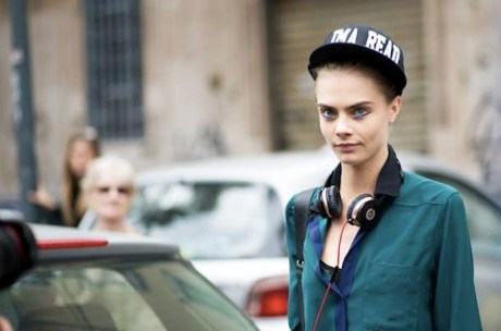Chanel SS14 headset pearls on Cara Delevingne on Exshoesme.com