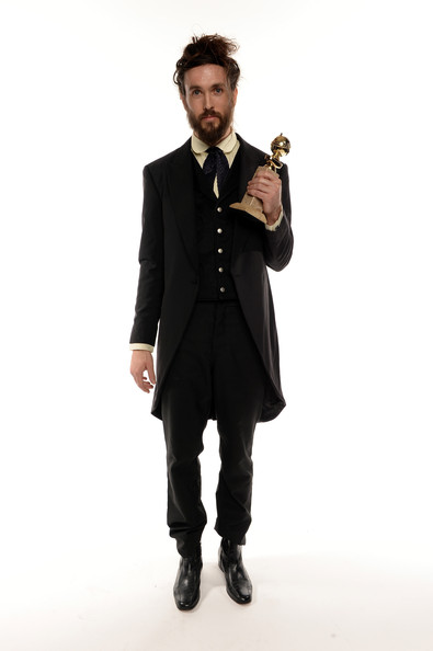 Alex Ebert in a 2014 Golden Globe Awards portrait by Dimitrios Kambouris on Exshoesme.com.