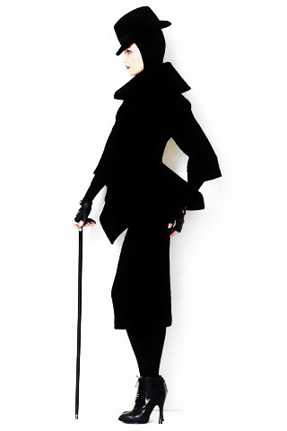 Alexander McQueen PF09 suit, hat and cane on Exshoesme.com