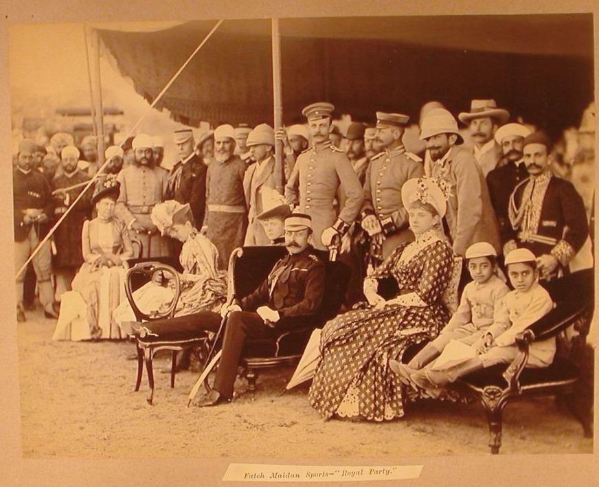 3.Duke of Connaught and Royal Party Watching Sports at Fateh Maidan , January 1889, Raja Deen Dayal