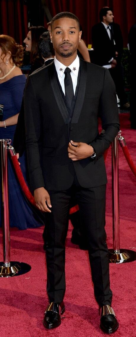 Michael B. Jordan at the 2014 Oscars in Givenchy on Exshoesme.com