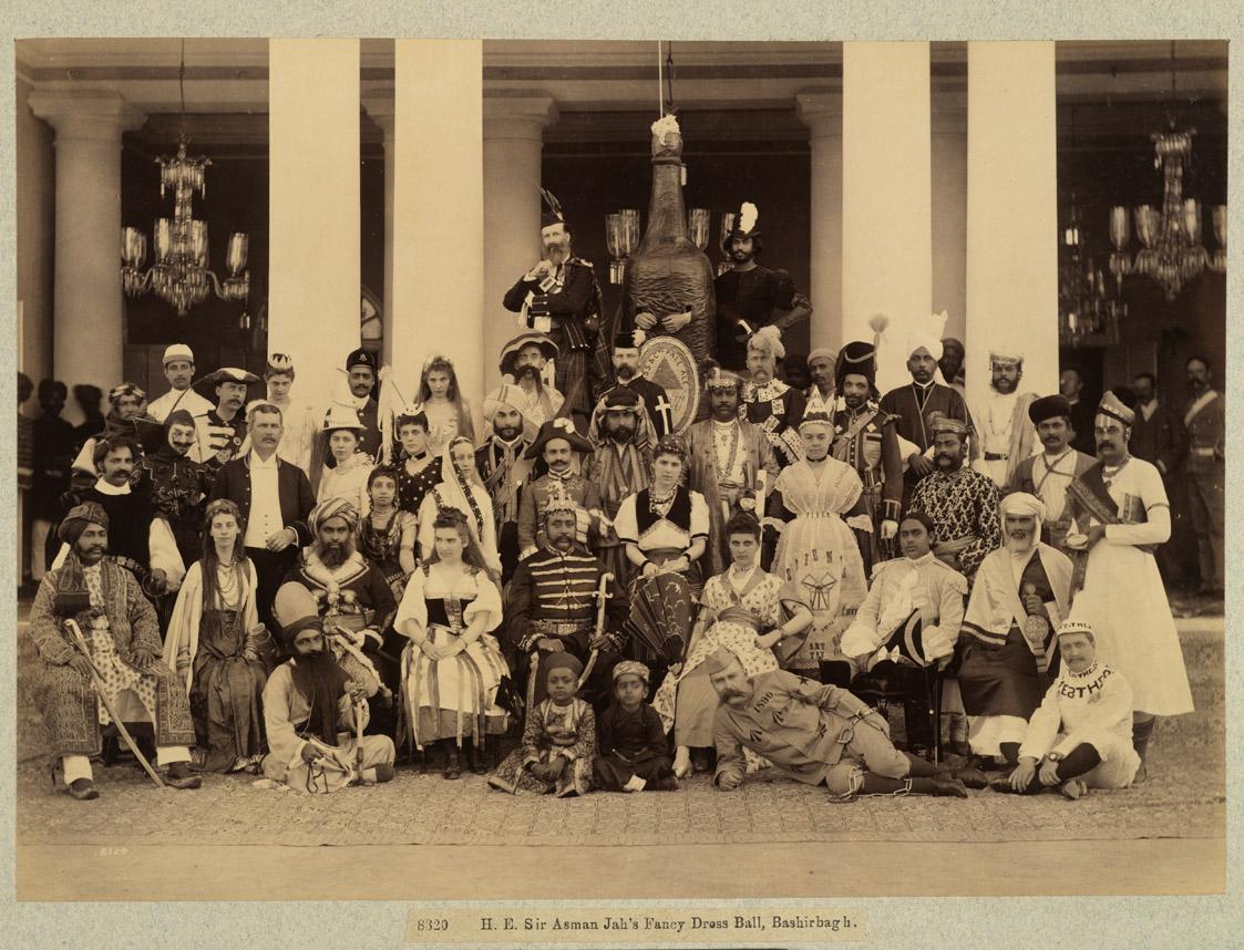 4. Sir Asman Jah's Fancy Dress Ball, Bashirbagh, February 1890, Raja Deen Dayal
