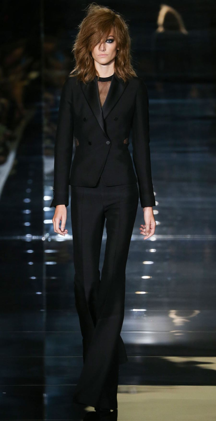 Tom Ford SS15 Black Flared Pant Suit on Exshoesme.com