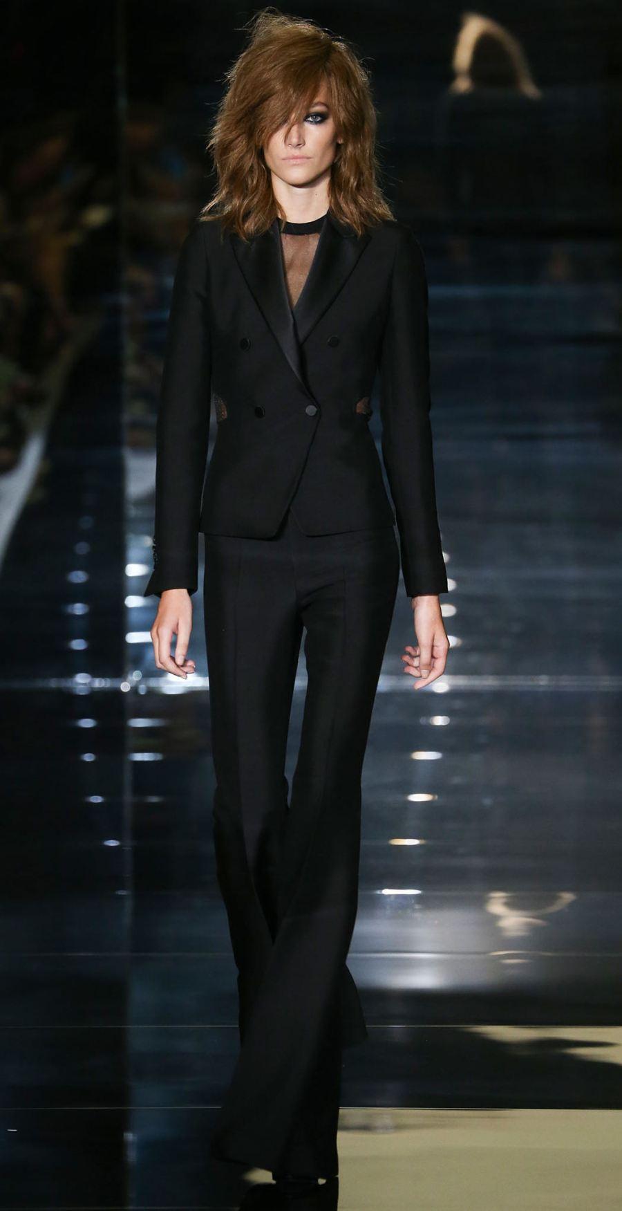 Tom Ford SS15 Black Flared Pant Suit on Exshoesme.com