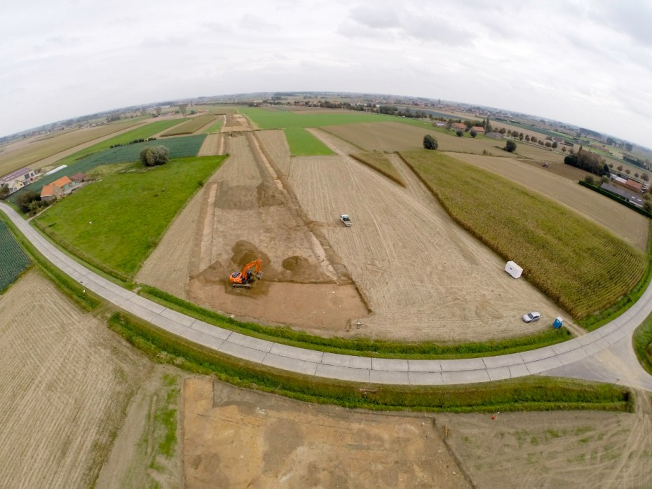 Een overzichtsfoto van de Fluxyssite in de frontzone van WOI © Jeroen De Reu, GATE bvba