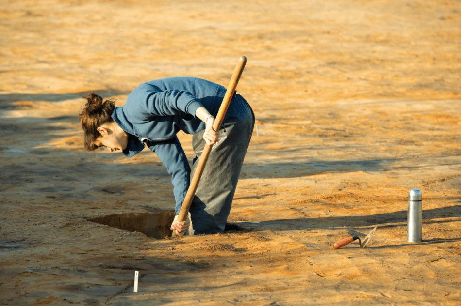 Archeologe op zoek naar een verhaal