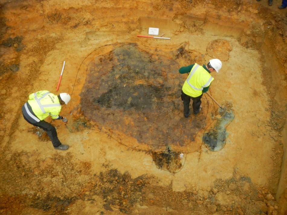 Interdisciplinair onderzoek heeft de locatie van het neergestorte vliegtuig achterhaald, zodat op zoek wordt gegaan naar sporen en vondsten in de bodem © Cynrik De Decker