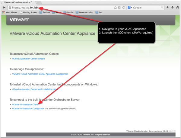 VMware vCloud Automation Center Appliance