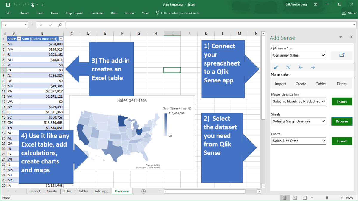 A new way to integrate Qlik Sense with Excel